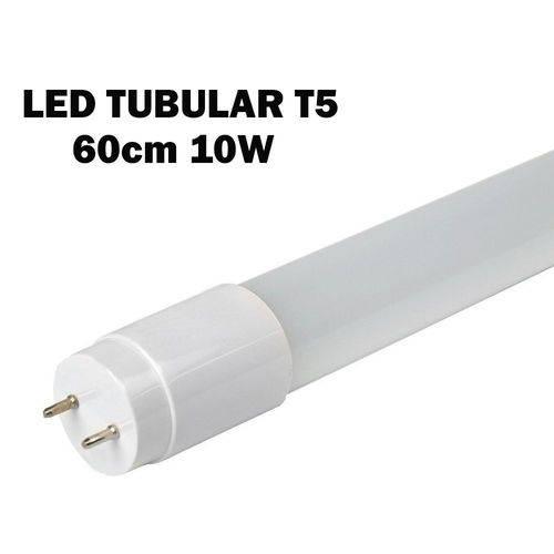 Kit 2 Lâmpada Tubular Led T5 Bivolt 60cm Branco Frio 6000k 10w