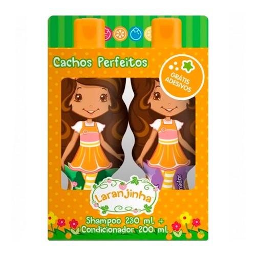 Kit Laranjinha Cachos Perfeitos Shampoo 230ml + Condicionador 200ml + Grátis Adesivos