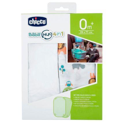 Kit 2 Lençóis de Baixo C/ Elástico para Berço Baby Hug 4 em 1 Little Animals (0m+) - Chicco