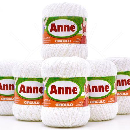 Kit Linha Anne Branca - 6 Novelos