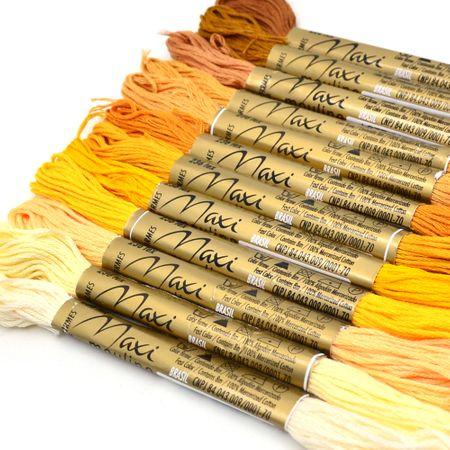 Kit Linha Maxi Mouline 12 Cores - Amarelo