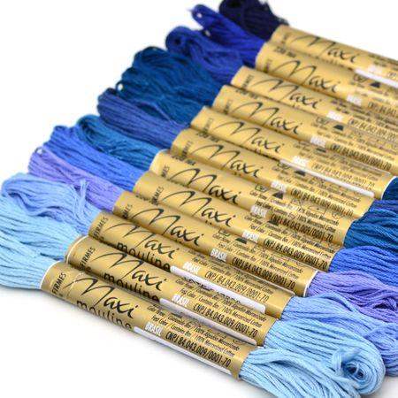 Kit Linha Maxi Mouline 12 Cores - Azul