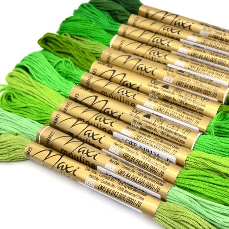 Kit Linha Maxi Mouline 12 Cores - Verde