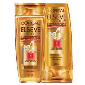 Kit L'Oréal Paris Elseve Óleo Extraordinário Nutrição (Shampoo e Condicionador) Conjunto
