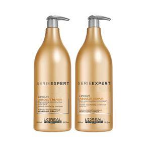 Kit L'Oréal Professionnel Absolut Repair Lipidium - Shampoo 1,5L + Condicionador 1,5L