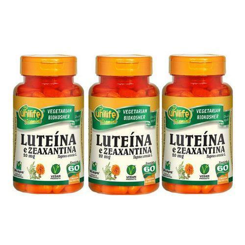 Kit 3 Luteína e Zeaxantina 60 Cápsulas Unilife