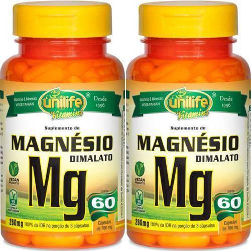 Kit 2 Magnésio Dimalato 120 Cápsulas Unilife