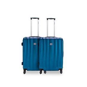 Kit 2 Malas Rígidas IN Travel Média Azul