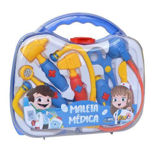 Kit Maleta Médica Infantil Fun 8 Acessórios Azul