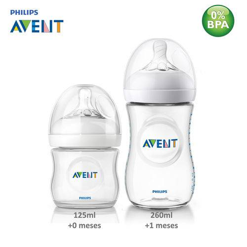 Kit 2 Mamadeiras Anticólica Pétala Philips Avent 125/260 Ml
