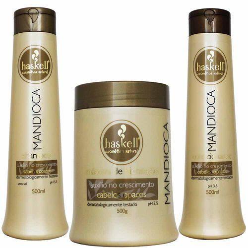 Kit Mandioca Shampoo Condicionador e Máscara Médio - Haskell