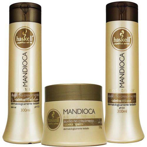 Kit Mandioca Shampoo Condicionador e Máscara Pequeno - Haskell