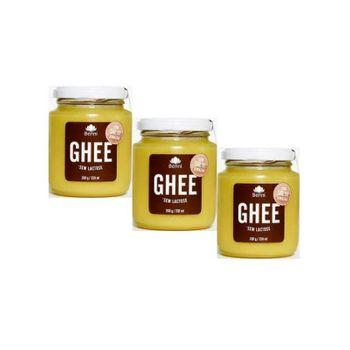 Kit 3 Manteiga Ghee C/Sal Rosa do Himalaia Benni Alimentos 200g