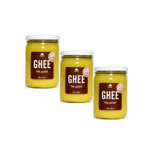 Kit 3 Manteiga Ghee C/Sal Rosa do Himalaia Benni Alimentos 500g