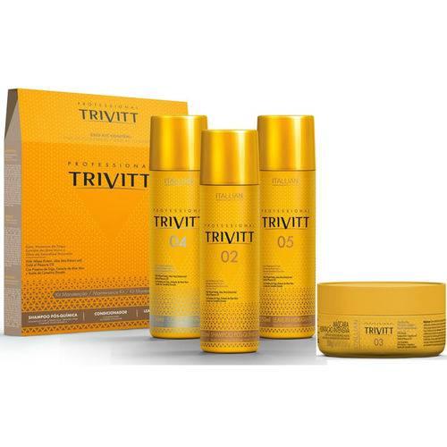 Kit Manutenção Trivitt 3x250ml + Hidratação Nº03 300g - Itallian Hairtech