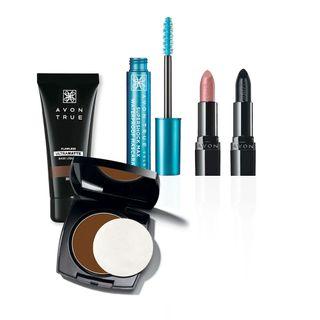 Kit Maquiagem Completa - Marrom Escuro
