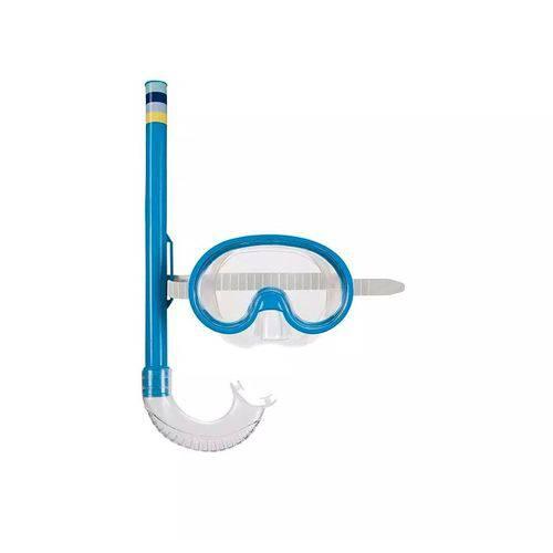 Kit Mascara de Mergulho e Snorkel Infantil Mor
