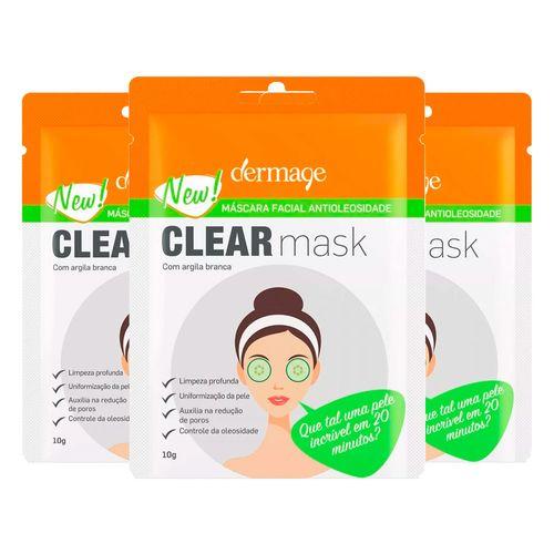 Kit 3 Máscara Facial Antioliosidade Dermage 10g