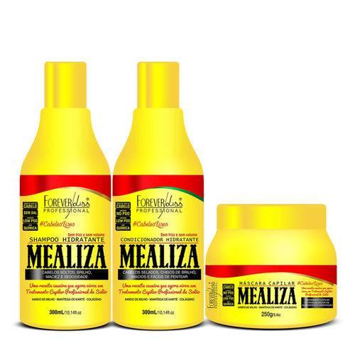 Kit Mealiza Mascara 250g Shampoo 300ml Condicionador 300ml Forever Liss