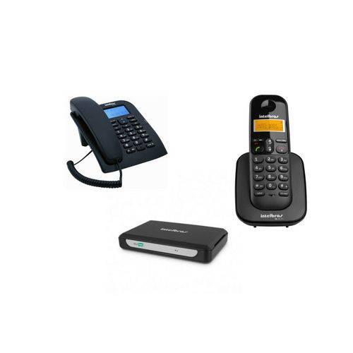 Kit MiniCom Slim para Comunicação Telefônica Intelbras