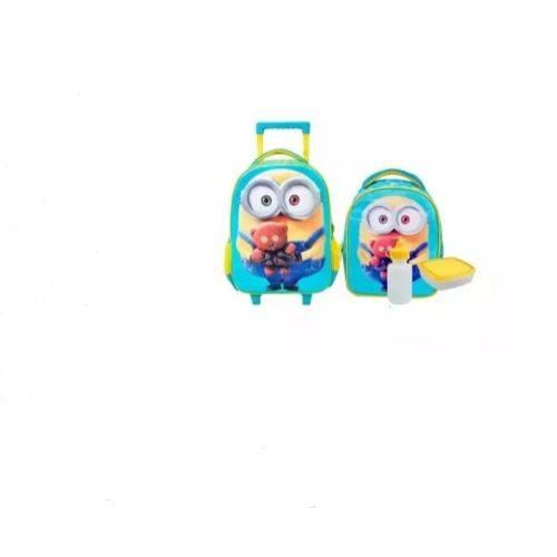 Kit Mochila Infantil Minions 3d Lancheira Xeryus