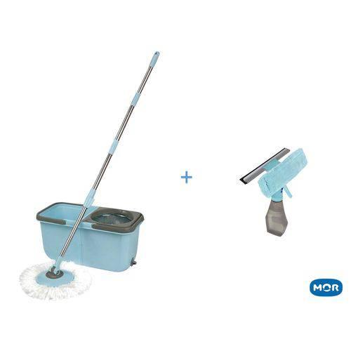 Kit Mop Premium e Rodo para Vidro Mor