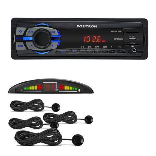 Kit MP3 Player Pósitron SP2210UB + Sensor de Estacionamento