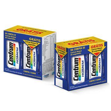 Kit Multivitamínico Centrum Homem 90 Comprimidos