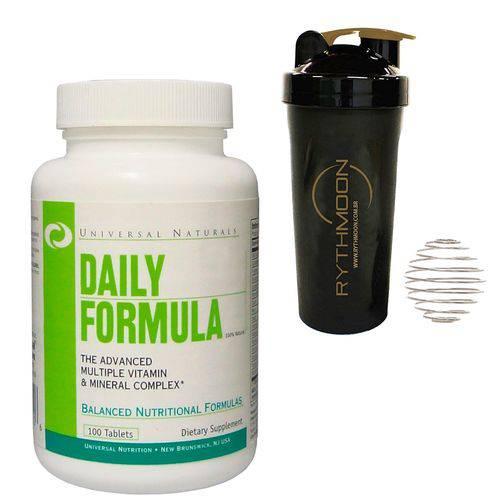 Kit Multivitamínico Daily Formula + Coqueteleira 600ml com Mola
