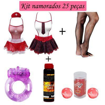 KIT NAMORADOS SEXY 25 PEÇAS KIT814 Variados