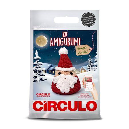 Kit Natal Amigurumi Círculo - Papai Noel
