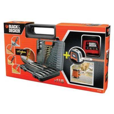 Kit Nível Laser 115 Peças - Cód. A7132-LA - Black & Decker