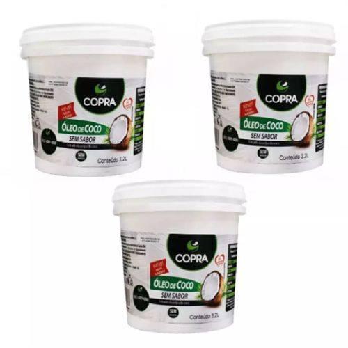 Kit Oleo de Coco Copra 3,2L - 3 Unidades