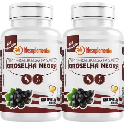 Kit 2 Óleo de Groselha Negra 1000mg 60 Cápsulas - Original Melcoprol