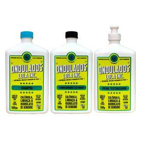 Kit Ondulados Lola Cosmetics - Shampoo + Condicionador + Creme de Pentear Kit