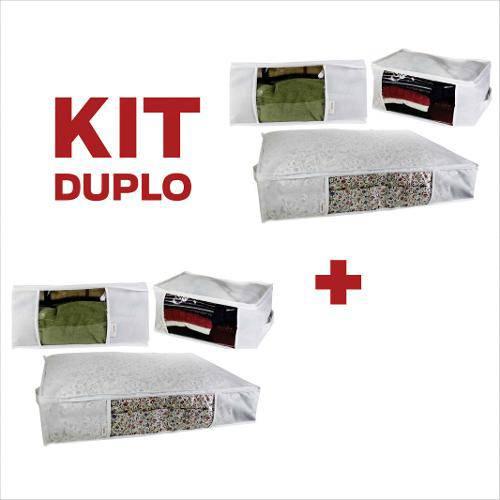 Kit Organizador Multiuso Branco com 6 Unidades