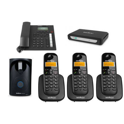 Kit PABX Central Telefonica Minicom Plus Intelbras 4 Ramais