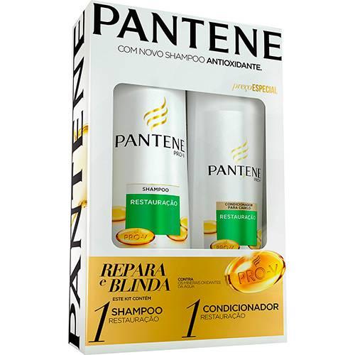 Kit Pantene Shampoo Restauração 400ml + Condicionador Restauração - 200ml