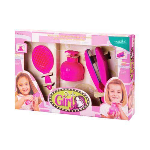 Kit para Penteados Feminino de Brinquedo 3 Peças