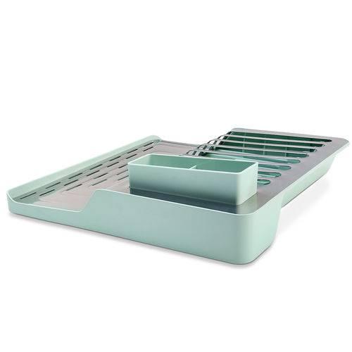 Kit para Pia de Cozinha 02 Peças com Escorredor e Organizador Menta Brinox
