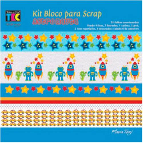 Kit para Scrapbook Mini II Astronauta - TEC
