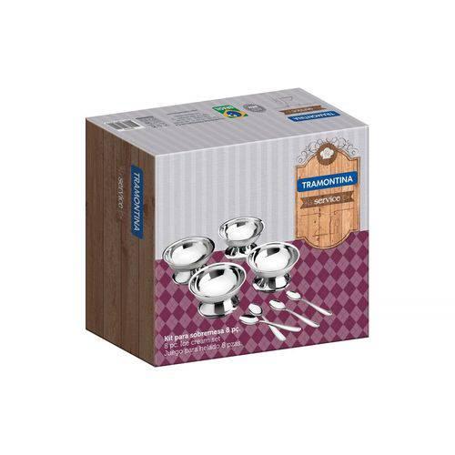 Kit para Sobremesa Aço Inox 8 Pç.