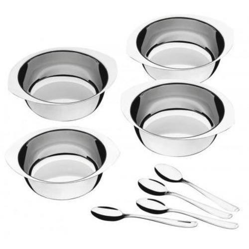 Kit para Sobremesa Aço Inox 8 Peças Service