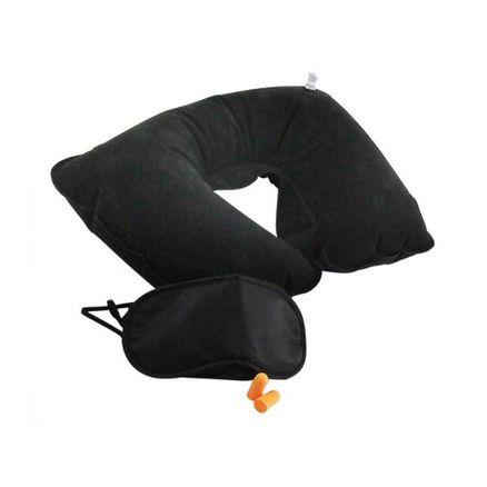 Kit para Viagem Western Travesseiro Mascara e Protetor Auditivo