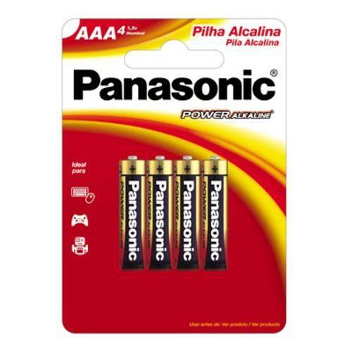 Kit Pilha Panasonic Alcalina Palito Aaa - com 4 Unidades