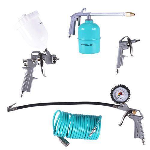 Kit Pistola Pintura com 5 Acessórios P/ Compressor Stels 5730455