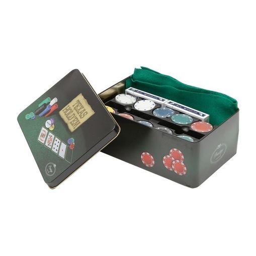 Kit Poker Completo com 200 Fichas + Toalha e Lata Prestige