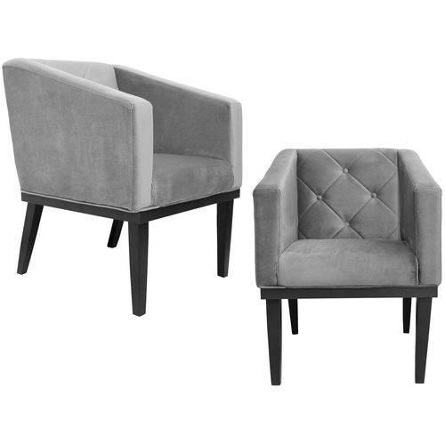 Kit 2 Poltrona Cadeira Decorativa Rafa Corino