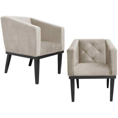 Kit 2 Poltronas Cadeira Decorativa Rafa Corino
