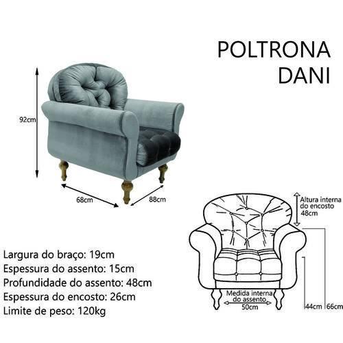 Poltrona Cadeira Dani para Recepção Sala Escritório Quarto Suede Branco Neve - AM DECOR